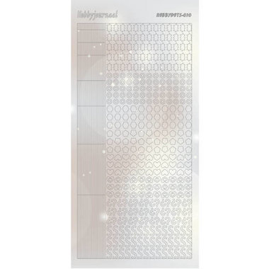 Hobbydots Sticker - Pearl  - 10 Silver
