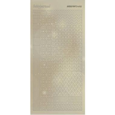 Hobbydots Sticker - Pearl  - 12 Gold
