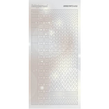 Hobbydots Sticker - Pearl  - 12 Silver
