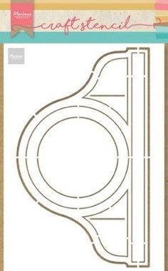 Marianne Design Craft Stencil Pendule PS8049