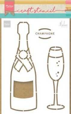 Marianne Design Craft Stencil Champagne by Marleen PS8051