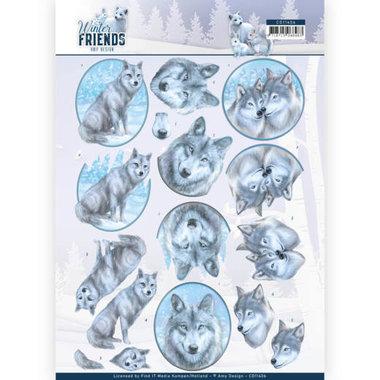 3D Knipvel - Amy Design - Winter Friends - Winter Wolves