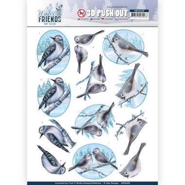 3D Pushout - Amy Design - Winter Friends - Sparkling Birds
