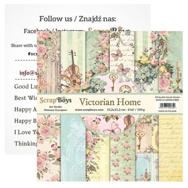 Scrapboys paperpad Victorian Home