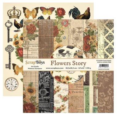 Scrapboys Flowers Story 30,5 30,5 cm
