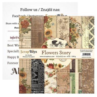 Scrapboys paperpad Flowers Story