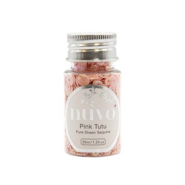 Nuvo Pure sheen sequins - pink tutu 35ml