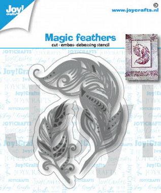 Joy! stencil bier magische veren 6002/1404