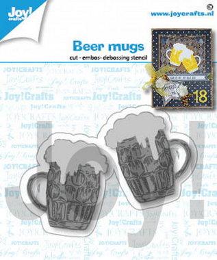 Joy! stencil bier mokken 6002/1421