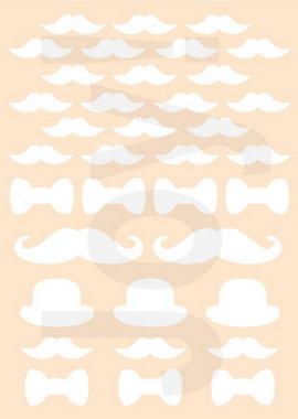 Joy! polybesa stencil gentlemen's moustache 6002/0890