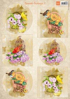 Marianne Design Decoupage Vogels & vogelkooien 1 VK9585 A4