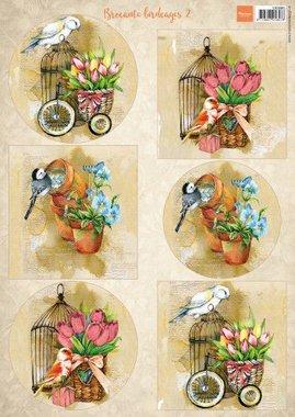Marianne Design Decoupage Vogels & vogelkooien 2 VK9586 A4