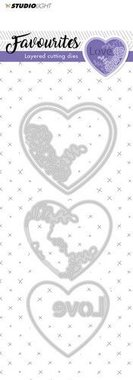 Studio Light Embossing Die Cut Stencil Layered Favourites nr 147