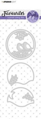 Studio Light Embossing Die Cut Stencil Layered Favourites nr 146