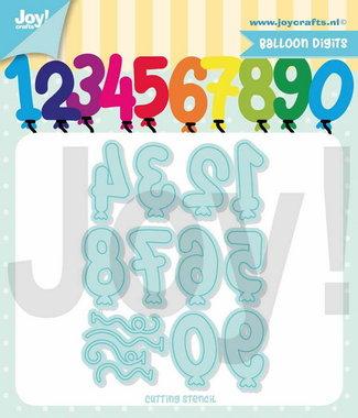 Joy! stencil Jocelijne ballon cijfers 6002/1396