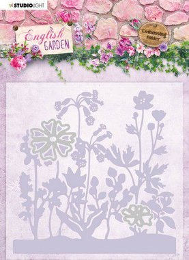 Studio Light Embossing Folder With Die Cut English Garden nr.04