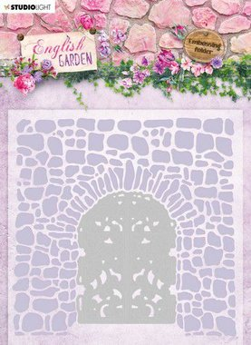 Studio Light Embossing Folder With Die Cut English Garden nr.03