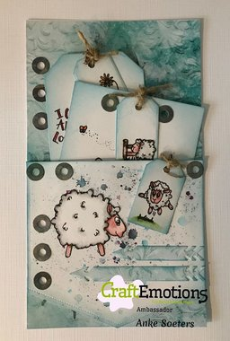 CraftEmotions clearstamps A6 - Sheep 1 Carla Creaties