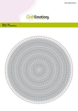 CraftEmotions Big Nesting Die - cirkels scalop XL drop