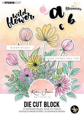 Studio Light Stansblok A5 20 vel Karin Joan Blooming Collection nr.01
