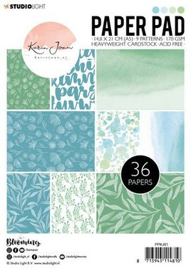 Studio Light Paper pad Karin Joan Blooming Collection nr.01  A5