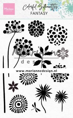 Marianne Design Clear Stamps Colorful Silhouette - Fantasie CS1047