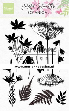 Marianne Design Clear Stamps Colorful Silhouette - Botanisch CS1048
