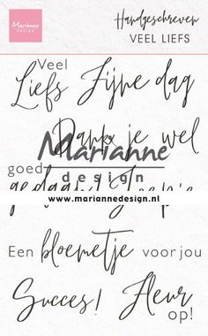 Marianne Design Clear Stamps Handgeschreven - veel Liefs (NL) CS1050