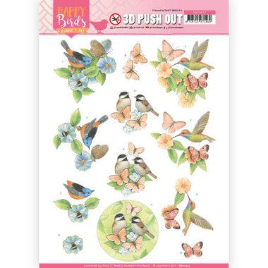3D uitdrukvel - Jeanine's Art - Happy Birds - Gevederde vrienden