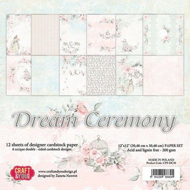Craft&You Dream Ceremony BIG Paper Set 12x12 12 vel