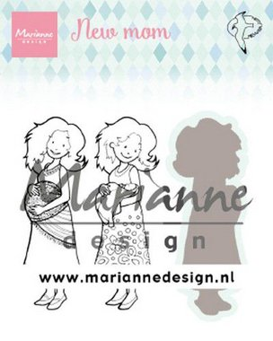 Marianne Design Clear Stamps & dies Hetty's new mom HT1651