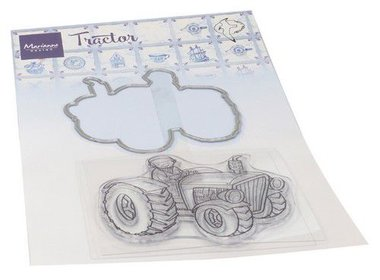 Marianne Design Clear Stamp & Die Hetty's Tractor HT1654