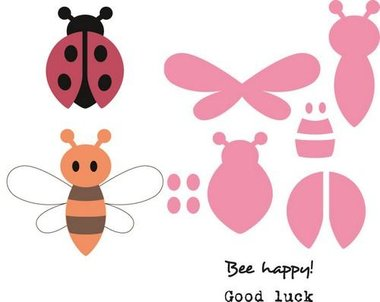 Marianne Design collectable bee & lady bird COL1356