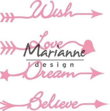 Marianne Design collectable arrow sentiments COL1458
