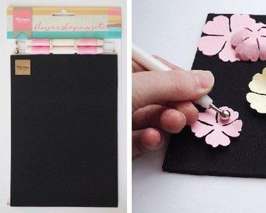 Marianne Design bloemen vorm set LR0020