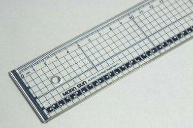 Snijliniaal transparant 40 cm met metalen rand