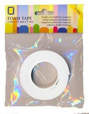 JeJe foam tape 0,5 mm dubbelzijdig 2 MT