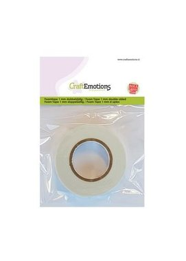 CraftEmotions foam tape 1 mm dubbelzijdig 2 MT