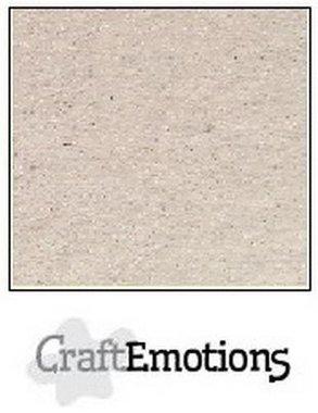 CraftEmotions karton kraft krijtwit 10 vel 30,5 x 30,5 cm