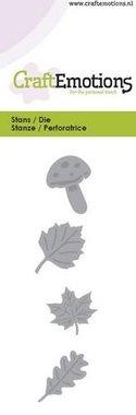 CraftEmotions Die - bladeren, paddestoel
