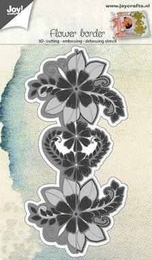 Joy! stencil 3D eindeloze bloemenrand 6002/0691