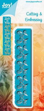 Joy! stencil blauwe randmal met snijwerk en bloemen 6002/0698
