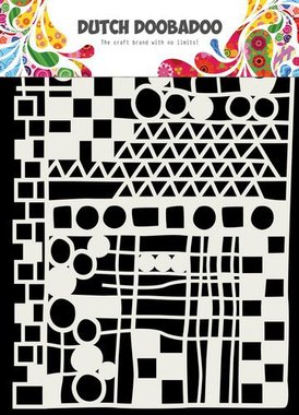 Dutch Doobadoo dutch mask art geo mix - abstract A5