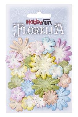 Florella bloemen uit moerbijpapier mix 2