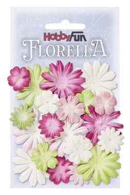 Florella bloemen uit moerbijpapier mix 3