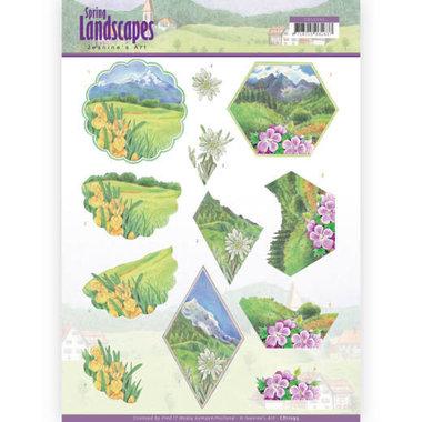 3D knipvel - Jeanine's Art - spring landscapes - mountains