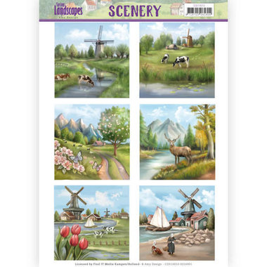 Die Cut Topper - Scenery - Amy Design - spring landscapes 1