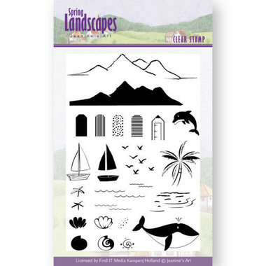 Clear Stamps - Jeanines Art- spring landscapes sea