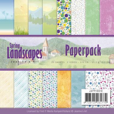Paperpack - Jeanines Art - spring landscapes