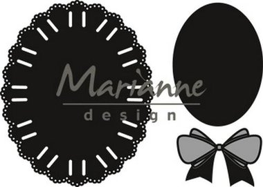 Marianne Design Craftable oval ribbon die CR1458
